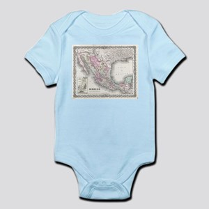 Vintage Map of Mexico (1855) Body Suit