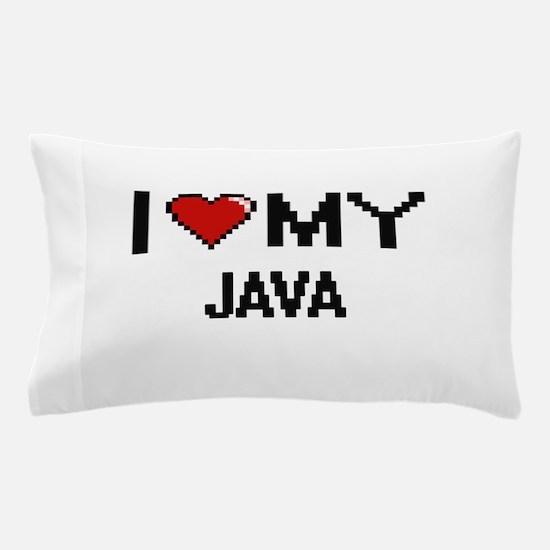 I Love My Java Digital design Pillow Case