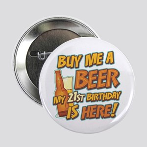 Buy Beer 21st Birthday Button