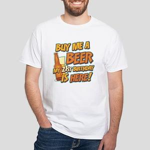 Buy Beer 21st Birthday White T-Shirt