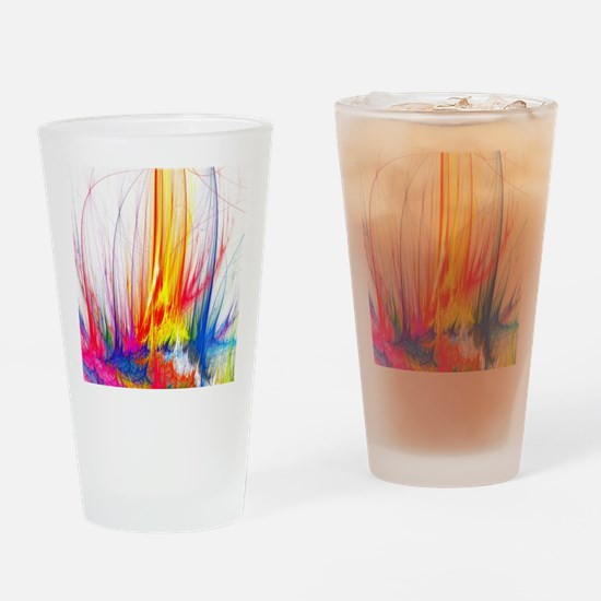 Paint Splatter Drinking Glass