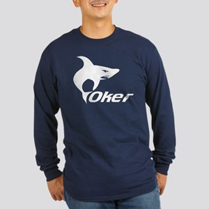 Poker Shark Long Sleeve Dark T-Shirt