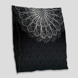 Elegant Pattern Burlap Throw Pillow