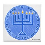 Yeshua, The Light Of The World Tile Coaster
