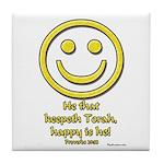 Happy Is He Who Keeps Torah Tile Coaster