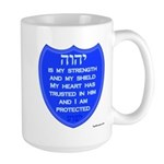YHVH Is My Shield Large Mug