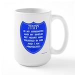 YHVH Is My Shield Large Mug