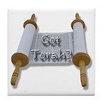 Got Torah? Torah Scroll Tile Coaster