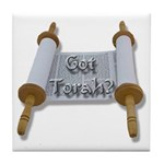 Got Torah? Torah Scroll Tile Coaster