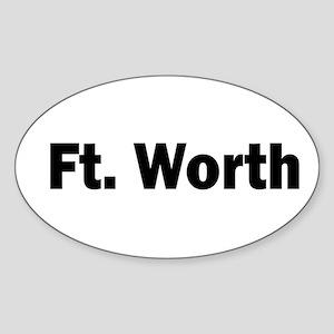 Ft. Worth Oval Sticker
