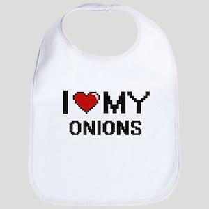 I Love My Onions Digital design Bib
