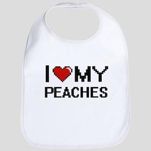 I Love My Peaches Digital design Bib