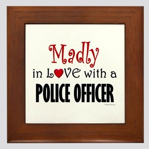 Madly In Love (Police Officer) Framed Tile