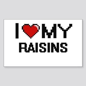 I Love My Raisins Digital design Sticker