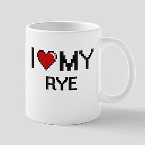 I Love My Rye Digital design Mugs