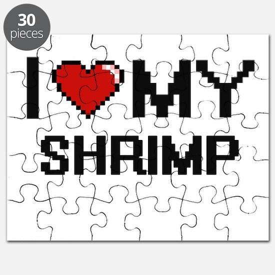 I Love My Shrimp Digital design Puzzle