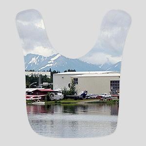 Lake Hood, Alaska, and mountains Bib