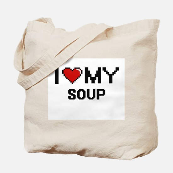 I Love My Soup Digital design Tote Bag