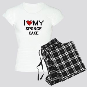 I Love My Sponge Cake Digit Women's Light Pajamas