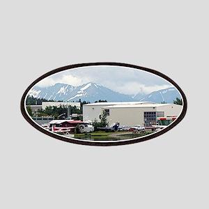 Lake Hood, Alaska, and mountains Patch