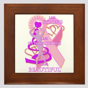 STRONG COURAGEOUS AND BEAUTIFUL Framed Tile