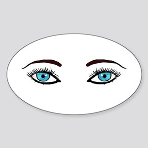 Blue Eyes Oval Sticker
