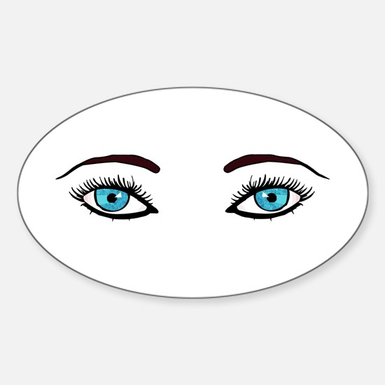 Blue Eyes Oval Decal