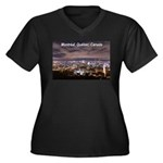 Montreal by night Women's Plus Size V-Neck Dark T-