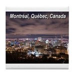 Montreal by night Tile Coaster