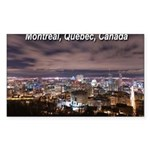Montreal by night Rectangle Sticker