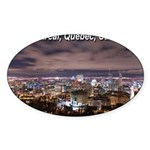 Montreal by night Oval Sticker