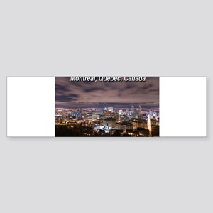 Montreal by night Bumper Sticker