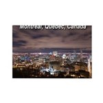 Montreal by night Rectangle Magnet (100 pack)