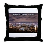 Montreal by night Throw Pillow