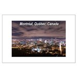Montreal by night Large Poster