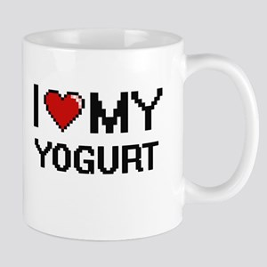 I Love My Yogurt Digital design Mugs