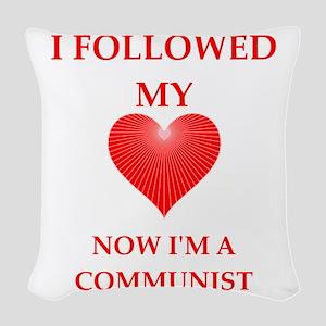 communist Woven Throw Pillow