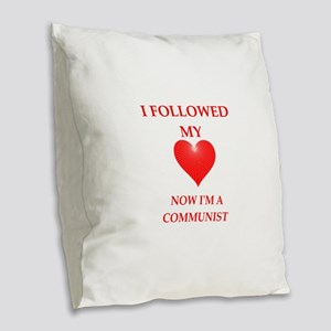 communist Burlap Throw Pillow