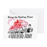The Railroad Army Greeting Card