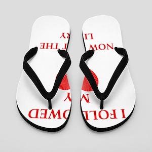 a funny joke Flip Flops