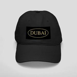 Dubai Gold Trim Black Cap