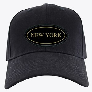 New York Gold Trim Black Cap