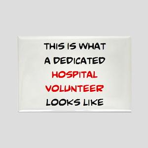 dedicated hospital volunteer Rectangle Magnet