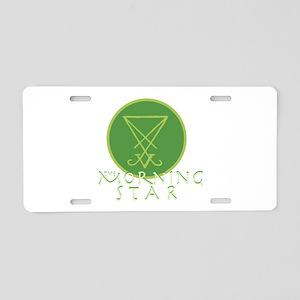The Morning Star Aluminum License Plate