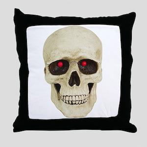 3D Surreal Skull Throw Pillow