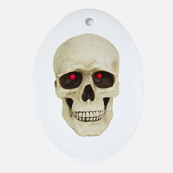 3D Surreal Skull Oval Ornament