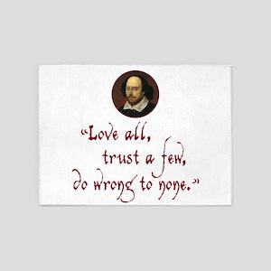 Love all, trust a few 5'x7'Area Rug