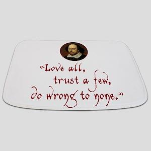 Love all, trust a few Bathmat