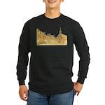 Inside Old Quebec Long Sleeve Dark T-Shirt