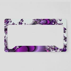 Purple Bliss Fractal License Plate Holder